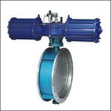 BAWWSY On-off Type Flange Triple Eccentric Pneumatic Butterfly Valve