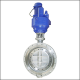 Economical ZAJWSY Flange Three Eccentric Modulating Electric Butterfly Valve