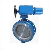 Introduced Series SKJWSY Fast Speed Flange Three Eccentric Electric Butterfly Valve
