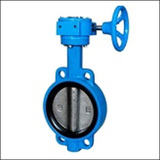 BWWA Worm Gear Wafer Centre Line Butterfly Valve