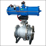 BAWQ Pneumatic V Port      Ball Valve