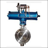 BAWWSYD Modulating Wafer Three Eccentric Pneumatic Butterfly Valve