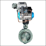BGTWSY Modulating Flange Three Eccentric Pneumatic Butterfly Valve