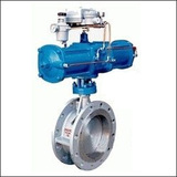 BAWWSY Modulating Flange Three Eccentric Pneumatic Butterfly Valve